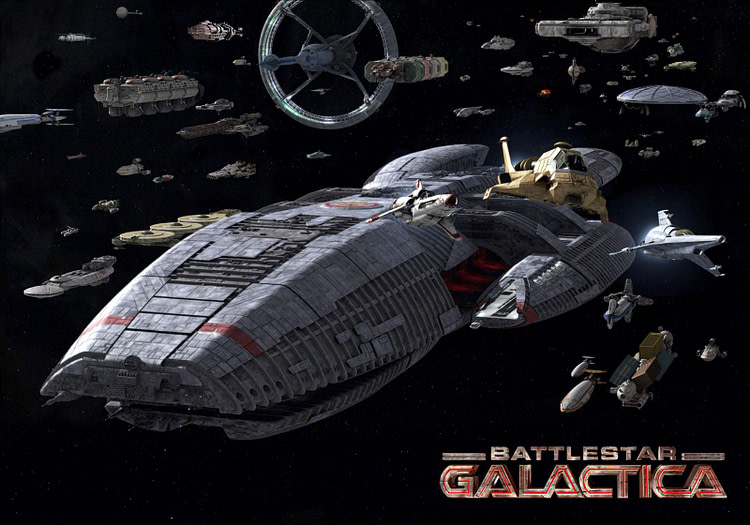 Звездный Крейсер Галактика флот людей